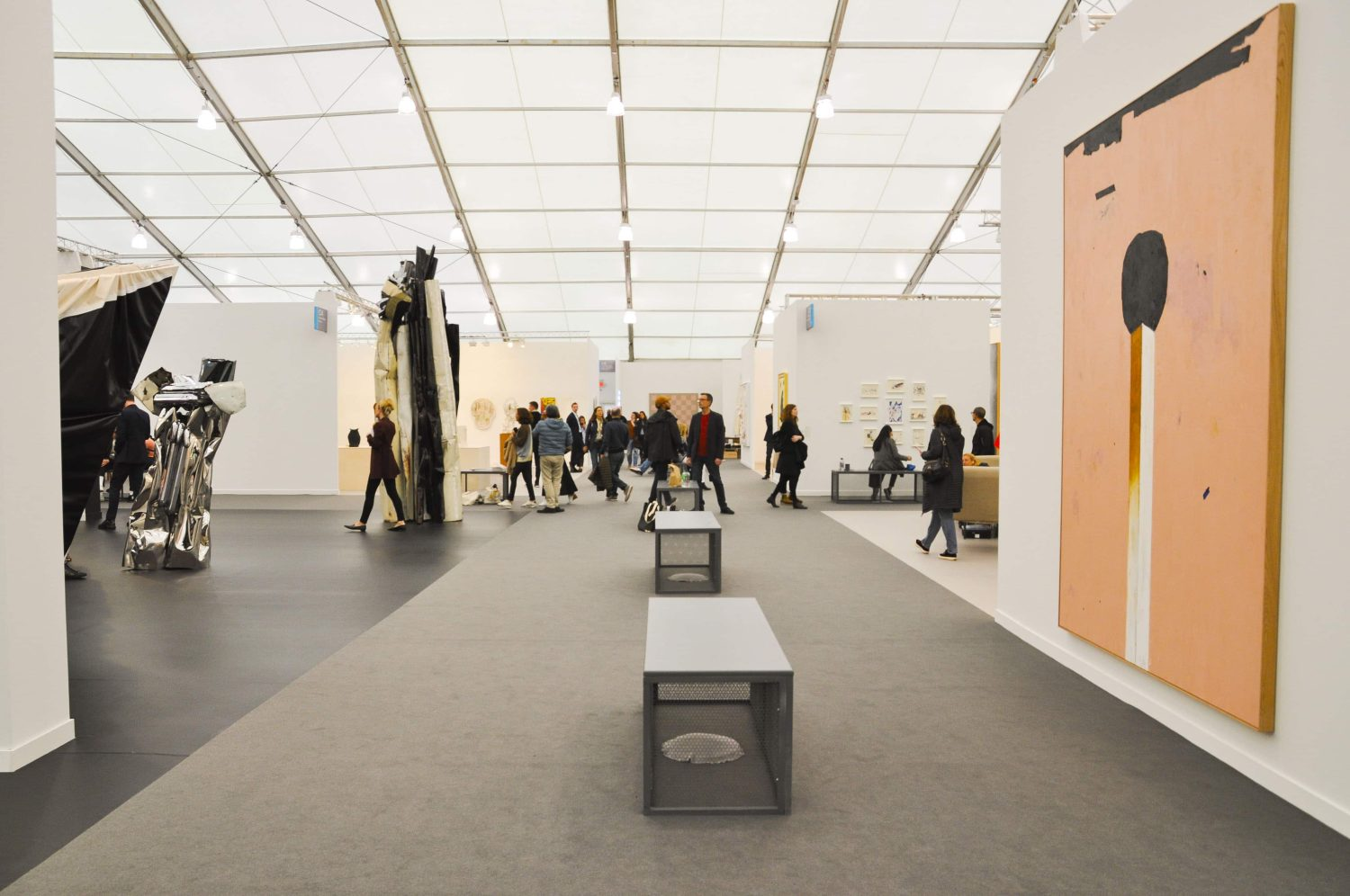 An image of 2019's Frieze Art Fair in NYC.