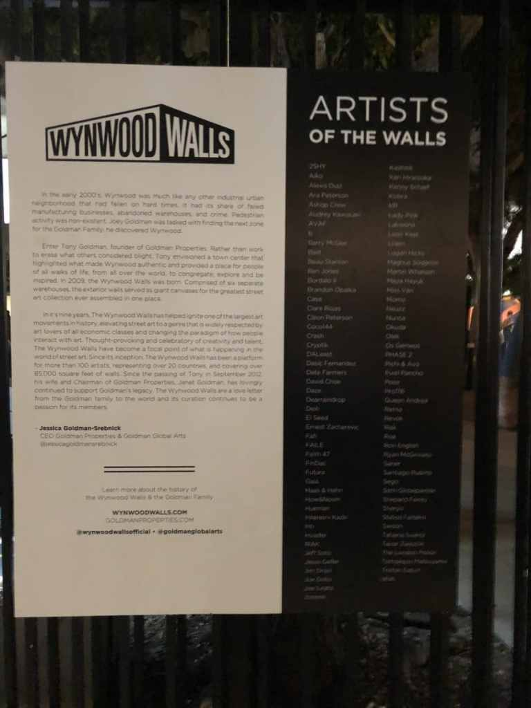 Wynwood Walls in Miami 2018 Artist List