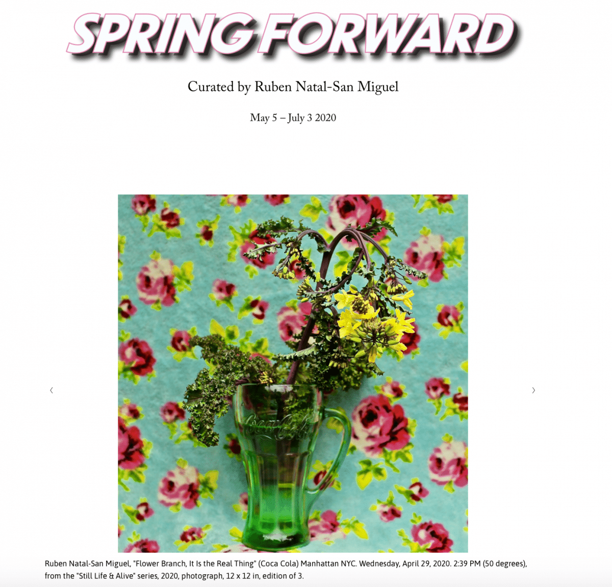 The Arcade Project and Ruben Natal-San Miguel's Spring Forward